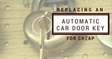 Replacing an Automatic Car Door Key For Cheap